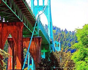 St. John's Bridge, Portland Bridge Art, Fine Art Photography