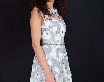 Gray Lace Spring Dress