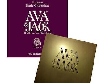 Dark Chocolate Bar, 72% Min Cocoa (60g). Free UK 1st class shipping!