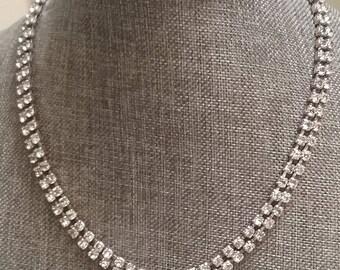 Vintage Crystal rhinestone Choker