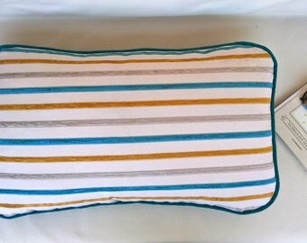 Outdoor pillow, striped pillow cover, summer decor, decorative pillow for couch, 16X25