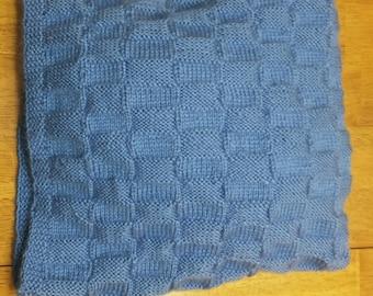 Beautiful Baby Blanket - BasketWeave Design