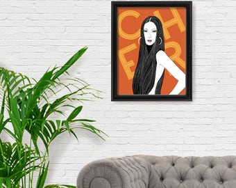 CHER Portrait Print, Fine Art Print, Feminism, Feminist Art, Giclee Print