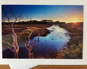 Budleigh Sunrise, Devon  photography greetings card