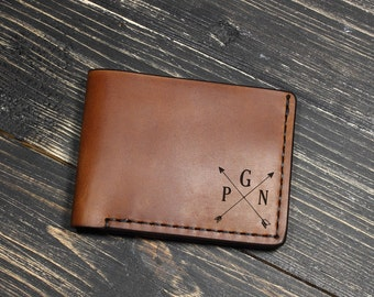 Leather Wallet Mens Personalized, Groomsmen Gifts, Mens Leather Wallet, Husband Birthday Gifts, Leather Wallet, Gift for Boyfriend Birthday