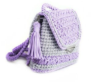 """Knitted backpack """"Provence"""" bag"""