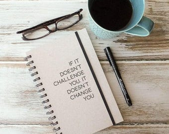 Spiral notebook, graduation gift, writing journal, gift for best friend CC1