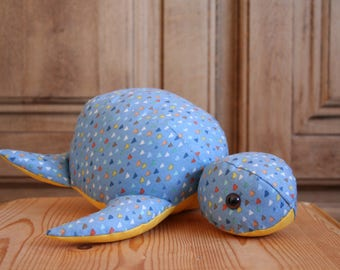 Handmade Soft Toy Turtle with Triangles (big), plushie, babyshower gift, kidstoy, plush doll, children toys, soft doll, handmade gift