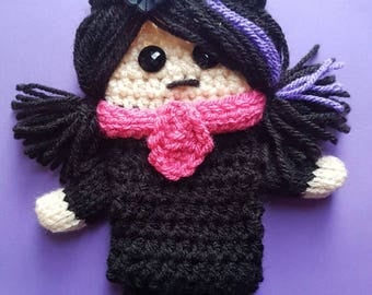 Knitted Emo Girl Design Mobile Phone Case