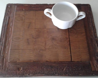Recycled wood chopping board