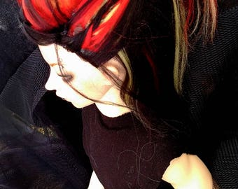 Seasonal Preorder - Pyra Priestess bjd wig (SD, MSD, YoSD, MH, Pullip, tiny)