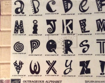 Stampin Up Outrageous Alphabet