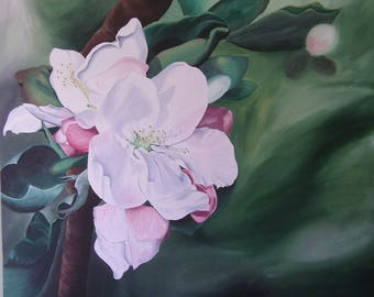 Apple Blossom Flower Painting