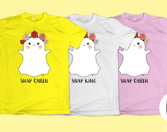 Snap Queen King shirts | Social media party | Kawaii tumblr pastel goth inspired clothing | Snapchat filter | Ghost patches a