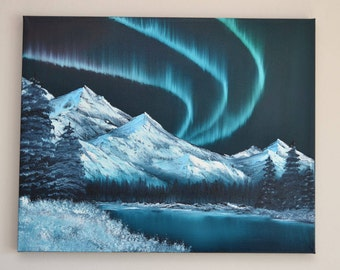 Northern Lights - Original Landscape Oil Painting