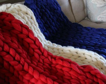 Chunky Merino Wool Blanket/Throw