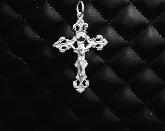 Handmade Fine Silver Crucifix