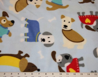 Multi Dog Fleece Fabric Dog blanket Fleece Fabric Store low price Anti Pill fleece fabric  by the yard free shipping available - SHIPS FAST