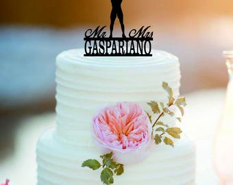 Weight lifting Wedding  Cake Topper/ Customized  wedding Cake Topper /Mr and Mrs wedding  Cake Topper