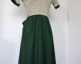 Minx Mode Junior 1950s Collar Day Dress Wool Blend