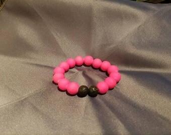 Hot Pink Childrens Diffuser Bracelet