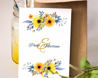 Wedding invitations. Floral style Shabby Chic. Wedding invitation, wedding invitation.