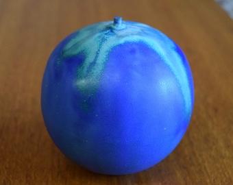 Rose Cabat Feelie - Cobalt with Green