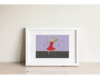 The Whippet Tango - Mini Framed Print
