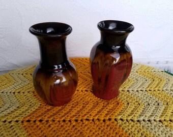 Vintage Pottery Vases / Glazed Pottery Vases / Pottery Vases