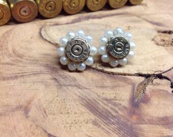 Pearl Bullet Earrings