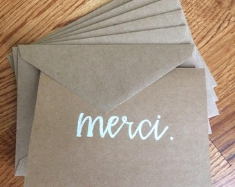 Thank You (in Six Languages) Embossed Cards