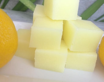 Lemon Sugar Soap Scrub Cubes, Soap Sugar Cubes, Fresh Lemon, Lemon Soap, Gifts for Her, Bath Treats, Handmade, Natural