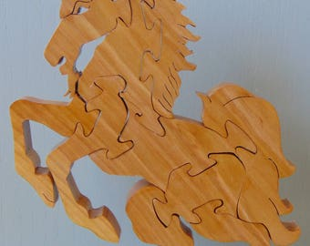 10 Piece Mythological Unicorn Handmade Wooden Solid Maple Hardwood Puzzle