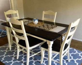 Refinished Solid Wood Dining Room Set