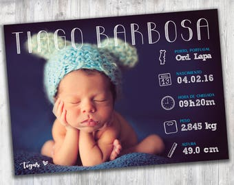 Baby Infographyc, Baby Announcement Card, Personalized Birth Stats, Birth Details, Birth Date Print, Printable, Newborn Gift