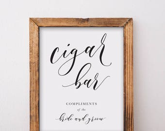 Cigar Bar Sign Printable Download
