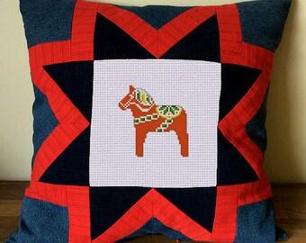 Swedish Dala Horse - Cross Stitch Pattern - G1