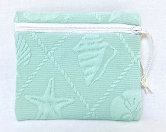 QUEEN CONCH Coin Purse/Pouch - Seafoam