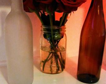 Clear wine bottle etsy - Empty colored wine bottles ...