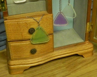 Glowing Triangle Necklace