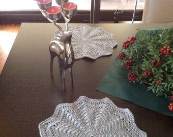 Crochet PATTERN Placemat N 129 TABLE DECOR