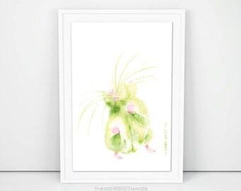 Watercolor Dancing Mouse Digital Download