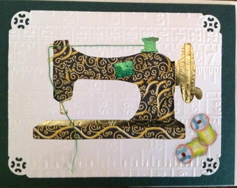 Iris Folding Sewing Machine Greeting Card