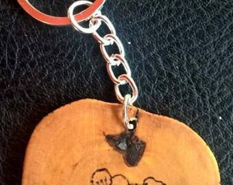 Hand made keyring with cherry blossom design (can be personalised)