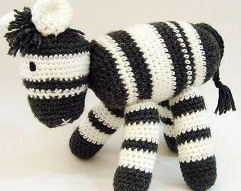Crochet Zebra Amigurumi, Striped Crochet Zebra, Stuffed Zebra Toy, Crochet Toys, Nursery Decor, Crochet Stuffed Animals, Crochet Toy Zebra
