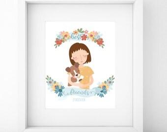 Custom Portrait/Best Friend Gift/Best Friend Portrait/Best Friends/Friends Gift/Friendship Gifts/