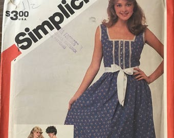 Simplicity 5935 Sundress Vintage Sewing Pattern (1980s) Misses Size 12, OOP