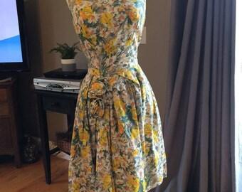Vintage homemade floral print dress