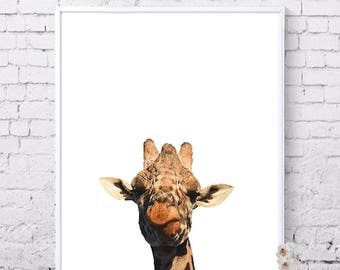 Giraffe wall art, Animal prints, Printable art, Home wall decor, Nursery wall art, Digital prints, Instant download