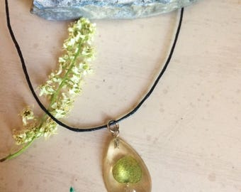 Lime-Green Ivy Necklace